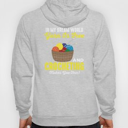 Crochet Gift - Yarn Is Free Sewing Queen Crafting Gifts  Hoody