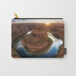 Grand Canyon National Park Horseshoe Bend At Sunset Arizona United States Ultra HD Carry-All Pouch