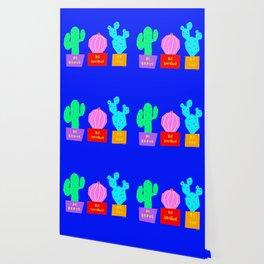 Cactus Illustration Colorful Plants Nature Cacti Wallpaper