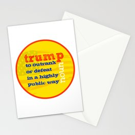 Trump Definition Stationery Cards