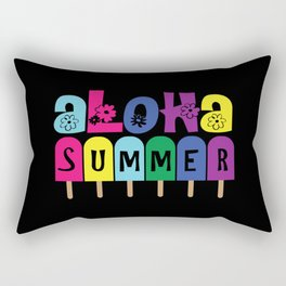 Aloha summer coloful ice cream with fonts Rectangular Pillow