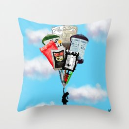 Syringes and blood Throw Pillow