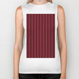Burgundy Red Stripes Pattern Biker Tank