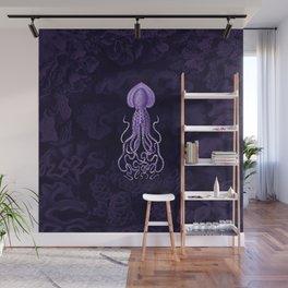 Squid1 (Purple, Square) Wall Mural