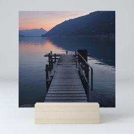 Brienz Lake At Sunset. Alps. Switzerland. Square Mini Art Print