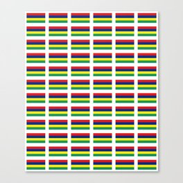 Flag of Mauritius – maurice,mauricien,port-louis,mauritian,rodrigues,creole,dodo,indian ocean Canvas Print