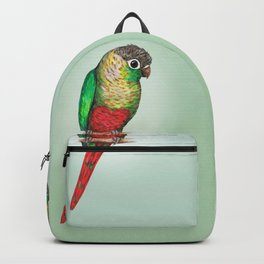Conure with a heart on its belly Backpack