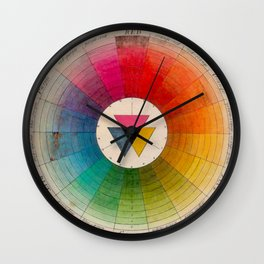 Color Wheel Vintage Antique Illustration Wall Clock