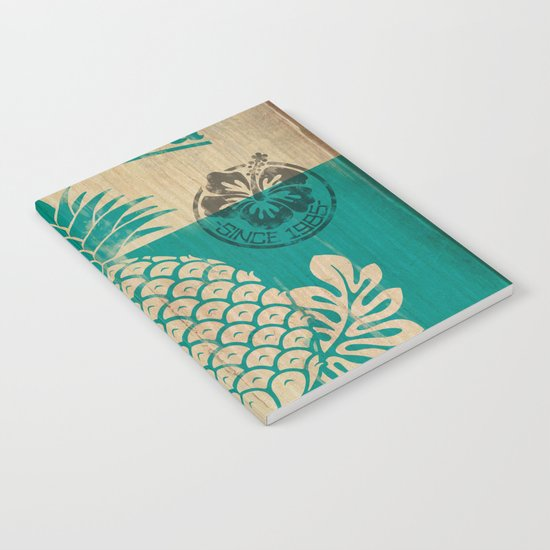 Hala Kahiki Juice Stand wooden board. Notebook