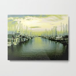 State of Peace in Green Metal Print