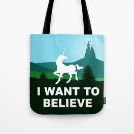 I WANT TO BELIEVE - Unicorn Tote Bag