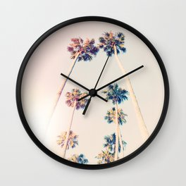 Vintage Pastel Palm trees Wall Clock