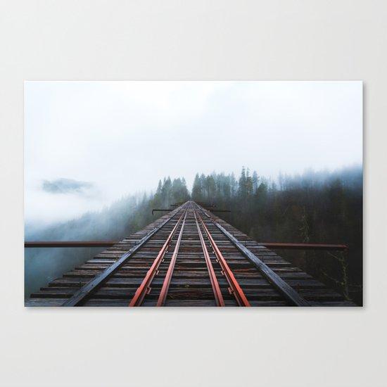 Abandoned Railroad Vance Creek Bridge - Olympic National Park, Washington Canvas Print
