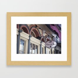 New Orleans Fleur de Paris Framed Art Print