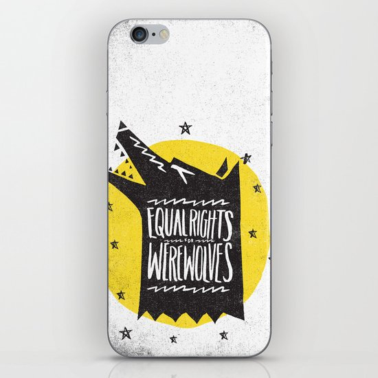 WEREWOLF RIGHTS iPhone & iPod Skin