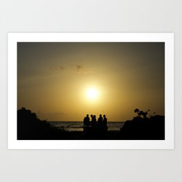 Maldives Sunset Art Print