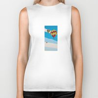 hot air balloons Biker Tanks featuring Three Hot Air Balloons by Shelley Chandelier