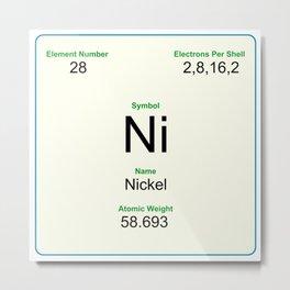 28 Nickel Metal Print