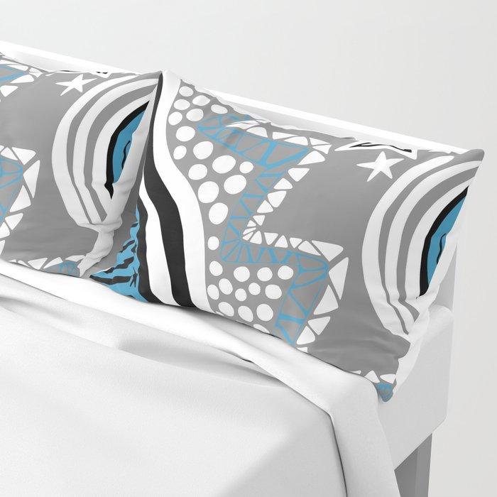 Soul Of The Dream Desert - Star Gazer (Blue and Grey Edition) Pillow Sham
