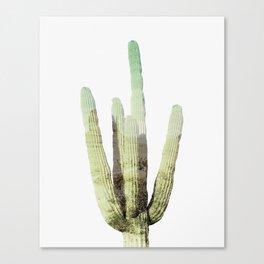 Cactus, Desert, Nature, Modern art, Art, Minimal, Wall art Canvas Print
