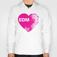 edm Hoodies featuring EDM Heart by DropBass