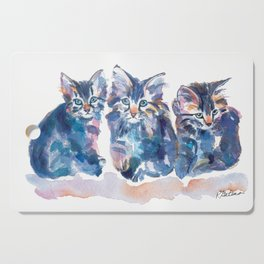 Crazy Quilt Kittens Cutting Board