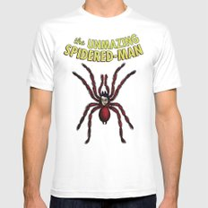 The Unmazing Spidered-Man White Mens Fitted Tee MEDIUM