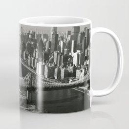 View South Queensboro Bridge from Upstream Side, East River - Queensboro Bridge, Spanning East river & Blackwell's Island, New York Skyline photograph Coffee Mug