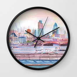 Colorful London Wall Clock