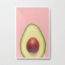 avocado portrait Metal Print