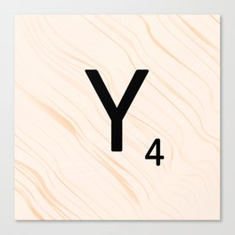 Scrabble Letter Y - Scrabble Art and Apparel Canvas Print