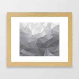 Gray Polygon Background Framed Art Print