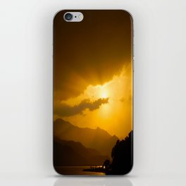 Lake Phewa Sunset, Lakeside, Pokhara, Nepal iPhone Skin