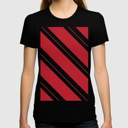 Tilted Classic Red Candy Cane T-shirt