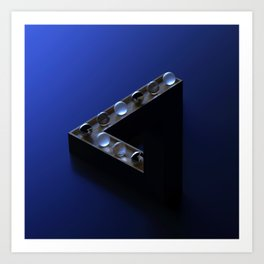 Penrose Triangle / Impossible Triangle Art Print