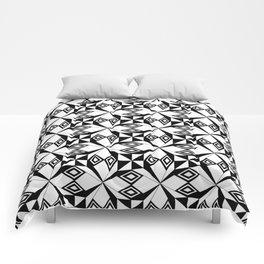 black and white symetric patterns 22- bw, mandala,geometric,rosace,harmony,star,symmetry Comforters