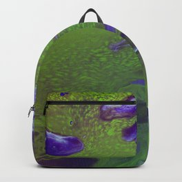 Dirty Acrylic Pour Painting 12, Fluid Art Reproduction Abstract Artwork Backpack