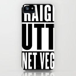 Straight Outta Planet Vegeta iPhone Case