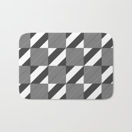 Checkers and Stripes Bath Mat