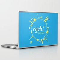 cycle Laptop & iPad Skins featuring Cycle! by Geminianum