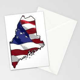 Patriotic Maine Stationery Cards