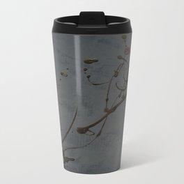 Jackson Pollock Inspired Study In Black - Glam Travel Mug
