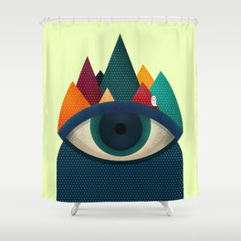 068 - I've seen it owl Shower Curtain