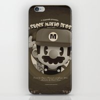 mario bros iPhone & iPod Skins featuring Mario Bros Fan Art by danvinci