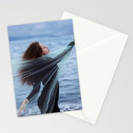 Woman on the sea Stationery Cards