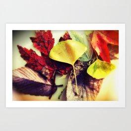 Leaf Mix Scattered I Art Print