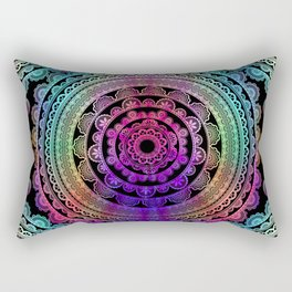 Zen Mantra Mandala Rectangular Pillow