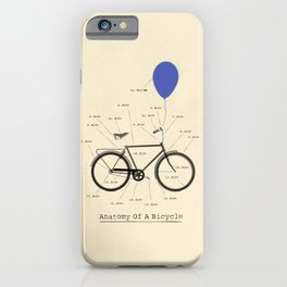 Anatomy Of A Bicycle iPhone Case