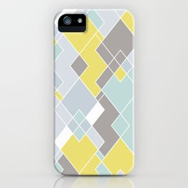 Yellow & Gray Geometric Pattern iPhone Case