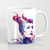 maleficent Mugs featuring Maleficent by lauramaahs